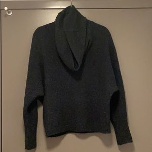 BCBGMAXAZRIA grey cowl neck sweater